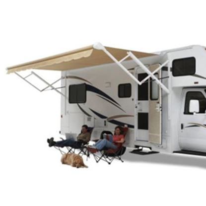 Picture of Carefree Eclipse/Travel'r/Pioneer Black/Gray Vinyl 12'L X 8'Ext Adj Pitch Springless Patio Awning QJ128D00 00-0718