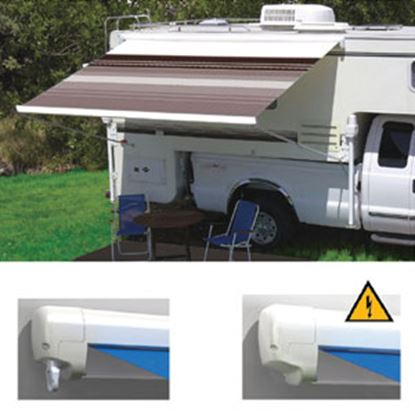 "Picture of Carefree Freedom Ocean Blue Vinyl 11' 6""L X 8'Ext Adj Pitch Manual Box Awning 351388E25 00-0967"