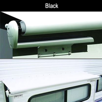 "Picture of Carefree Slideout Cover (TM) Solid Black Vinyl 114-121"" Roof X 42""Ext Power Slide-Out Awning LH1216242 00-7949"