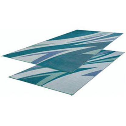 Picture of Faulkner  16' x 8' Green/Blue Reversible Camping Mat 45637 01-0647