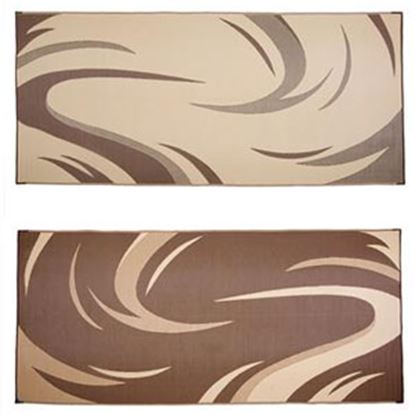 Picture of Ming's Mark  8' x 11' Brown/ Tan Swish Reversible Camping Mat SD8187 01-0866