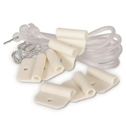Picture of Camco  7-Pack Plastic Clip & Lanyard Party Light Holder 42703 01-0955
