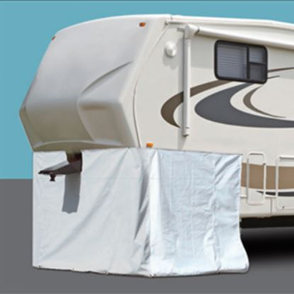 """Picture of ADCO  266""""L X 64""""H Polar White Vinyl Snap Mount Fifth Wheel Skirt 3502 01-1024"""