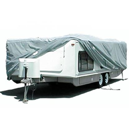 "Picture of ADCO SFS AquaShed (R) 312"" L x 100"" W x 60"" H Cover For 22' 7""-26' Hi-Lo Style Trailers 12253 01-1112"