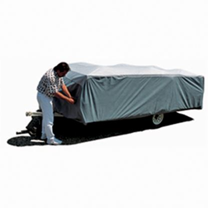 "Picture of ADCO SFS AquaShed (R) Gray Polypropylene Cover For 16' 1""-18' Folding/Pop Up Trailers 12295 01-1142"
