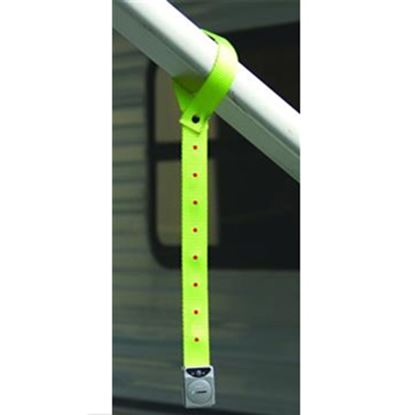 "Picture of Prime Products  16""L Yellow Warning Strap w/ 8 Flashing LED Lights 15-3001 01-1475"