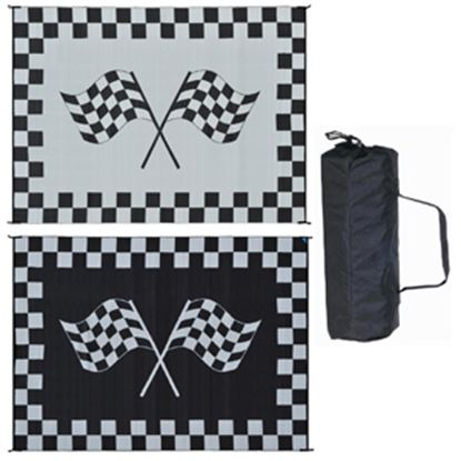 Picture of Ming's Mark  9' x 12' Black/White Reversible Camping Mat RF-9121 01-4750