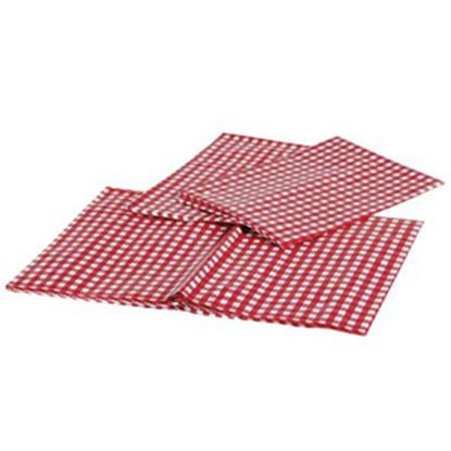 "Picture of Camco  54"" x 84"" Red & White Checkered Rectangular Vinyl Tablecloth 51021 03-0713"