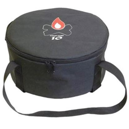 "Picture of Camp Chef  12-1/2""D x 6""H Black Polyester Campfire Cookware Storage Bag CBDO10 03-0809"
