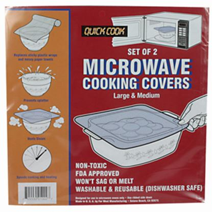 Picture of Camco  2-Pack Polypropylene Flat Microwave Cooking Cover 43790 03-0899