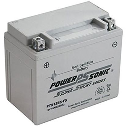 "Picture of Power-Sonic  12V 6""L X 3-7/16""W X 5-1/8""H Battery PTX12BS-FS 03-1884"