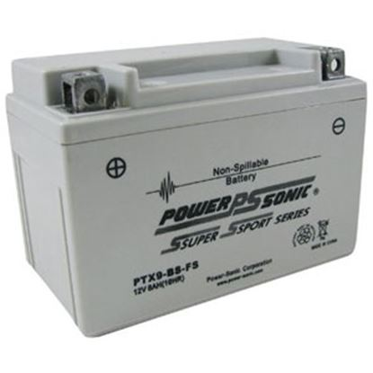 "Picture of Power-Sonic  12V 6""L X 3-7/16""W X 4-3/16""H Battery PTX9BS-FS 03-1885"