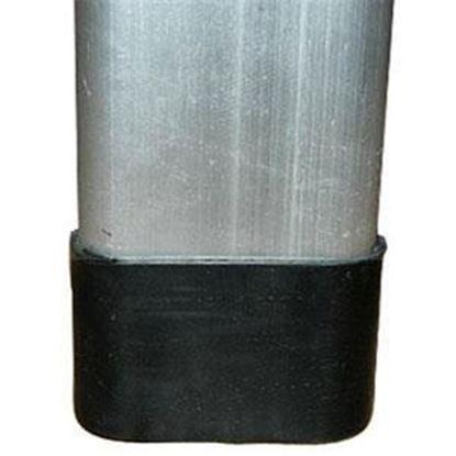 Picture of Faulkner  4-Pack Square Black Plastic Chair Foot Cap 44019 03-1979