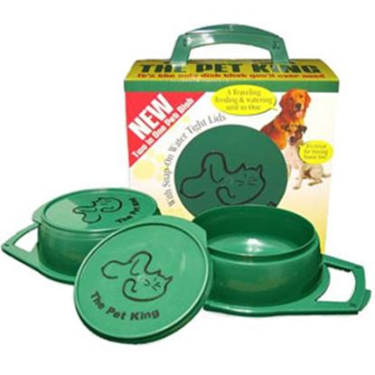 Picture of Pet King  Green Plastic Pet Dish PK-G 03-2181