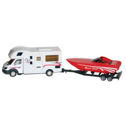 Picture of Prime Products  1:48 Scale Class C Motor Home And Boat Action Model Vehicle 27-0027 03-3013