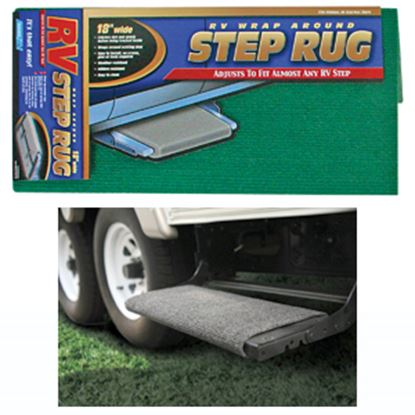"Picture of Camco  18"" Wide Green Wrap-Around Step Rug 42923 04-0283"