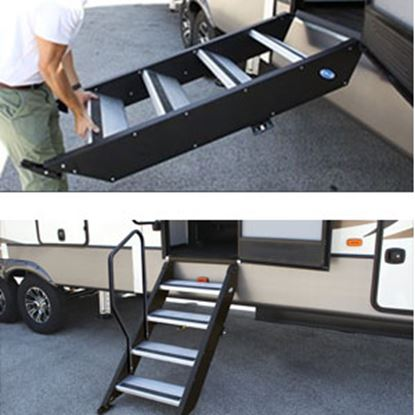 "Picture of MOR/ryde StepAbove (TM) 27"" W x 39""-42"" H Quad Manual Entry Step STP-4-27-05H 04-0350"