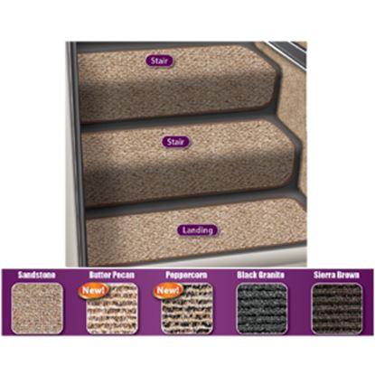 "Picture of Prest-o-Fit Step Huggers (R) 23-1/2""L x 10""W Sandstone Step Rug for Landing Steps 5-3088 04-0451"