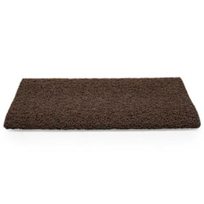 """Picture of Camco  23""""W Brown Looped PVC w/ TPE Backing Entry Step Rug 42967 04-0562"""