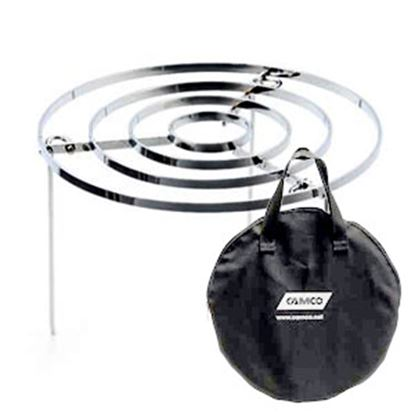 Picture of Camco Big Red Campfire (TM) Fire Pit Cook Top For Big Red Campfire T w/ Foldable Legs 58038 06-0549