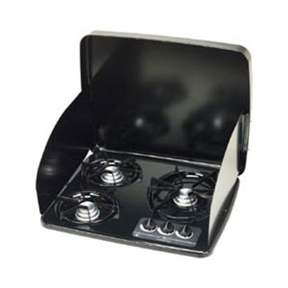 Picture of Dometic  Black 3-Burner Drop-In Cooktop 56471 07-0259