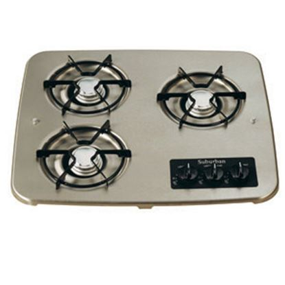 Picture of Suburban  3-Burner Match Light Drop-In Cooktop 2938AST 07-0330