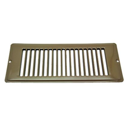 "Picture of AP Products  Brown 4""W x 10""L Floor Heating/ Cooling Register w/o Damper 013-634 08-0155"