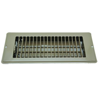 "Picture of AP Products  Brown 4""W x 10""L Floor Heating/ Cooling Register w/Damper 013-628 08-0158"