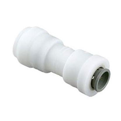 """Picture of Sea Tech 24 Series 1/2"""" Female QC Copper Tube x 3/8"""" Female QC Copper Tube White Plastic Fresh 012416-1008 10-0306"""