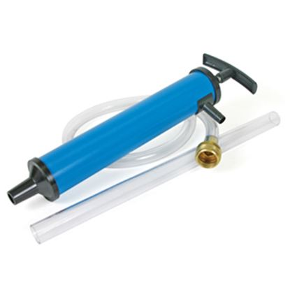 Picture of Camco  Blue Plastic Water System Antifreeze Hand Pump w/Hose Connection 36003 10-0364