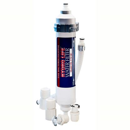 Picture of Camco Hydro Life (R) Under-Counter In-Line Canister KDF & Carbon Fresh Water Filter 52103 10-0430