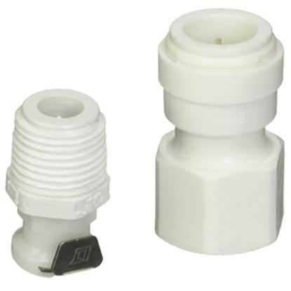 "Picture of Camco Hydro Life (R) 1/2""QC Fresh Water Filter Cartridge Connector w/ Shut-Off Valve 52531 10-0574"