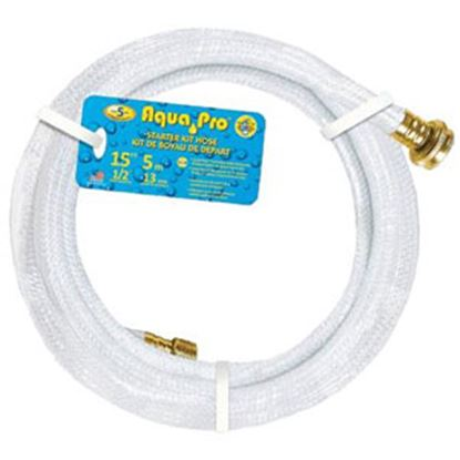 "Picture of Aqua Pro Supreme 1/2""x15' Fresh Water Hose w/ThumThing Coupling 20869 10-0633"