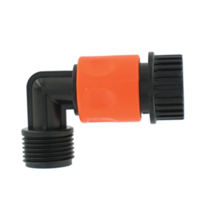 Picture of Valterra  Plastic QC Fresh Water Hose Connector For Std GHF Coupling w/90 Deg Hose Sav A01-0137VP 10-0780