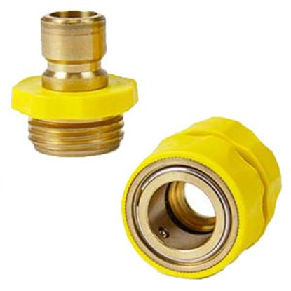 Picture of Camco  Brass QC Fresh Water Hose Connector For Std GHF Coupling 20143 10-0810