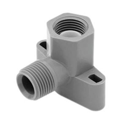 "Picture of Lasalle Bristol QEST 3/4"" Male Thread x 1/2"" Female Thread Gray Fresh Water Drop Ear Elbow 64QDE43TF 10-1054"