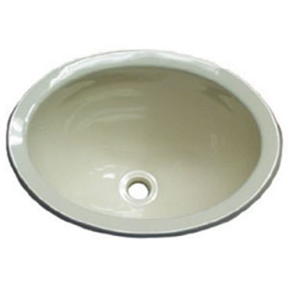 "Picture of Lasalle Bristol  13-5/8""L X 10-5/8""W X 5-3/4""D Oval Ivory ABS Plastic Sink 16156PP 10-1362"