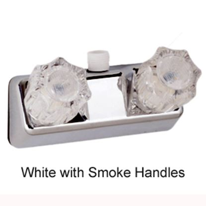 "Picture of Lasalle Bristol  White w/2 Smoked Knob 4"" Lavatory Faucet 20354RW21 10-1437"