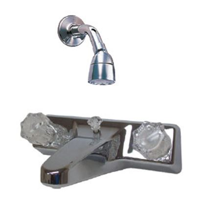 "Picture of Utopia  Chrome w/2 Clear Knob 8"" Lavatory Faucet 20329R206 10-1441"