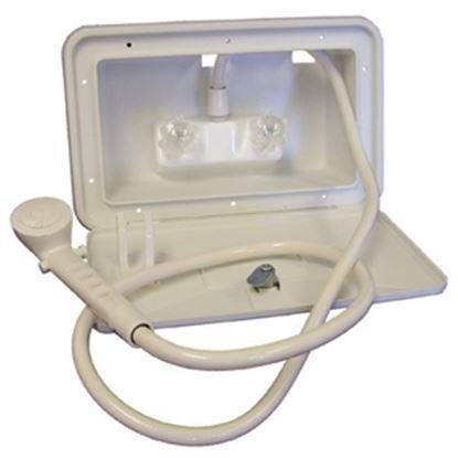 Picture of Lasalle Bristol  Polar White Lockable Exterior Shower Box Kit 742007 10-1578