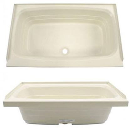 "Picture of Better Bath  Parchment 24""x38"" Center Drain ABS Standard Bathtub 209379 10-1729"