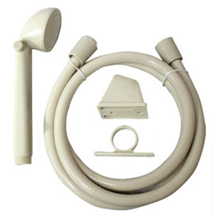 "Picture of Utopia  Ivory Handheld Shower Head w/60"" Hose 39020 10-1816"