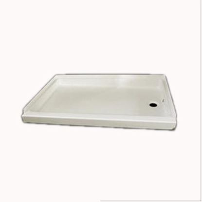 """Picture of Specialty Recreation  Parchment 24""""x 32"""" Center Drain Shower Pan SP2432PC 10-1825"""
