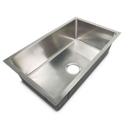 """Picture of Better Bath  27""""W X 16""""L X 7""""D Silver Stainless Steel Sink 385313 10-1954"""