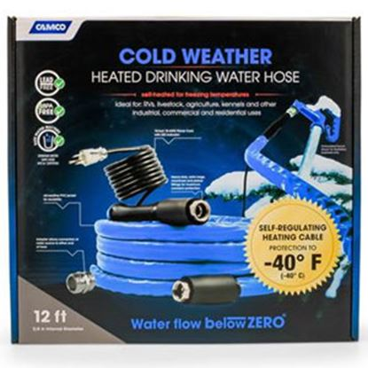 """Picture of Camco TastePURE (TM) Heated 5/8""""x12' Fresh Water Hose 22920 10-1959"""