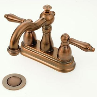 "Picture of American Brass  Bronze w/Levers 4"" Lavatory Faucet OB99ORB 10-2330"