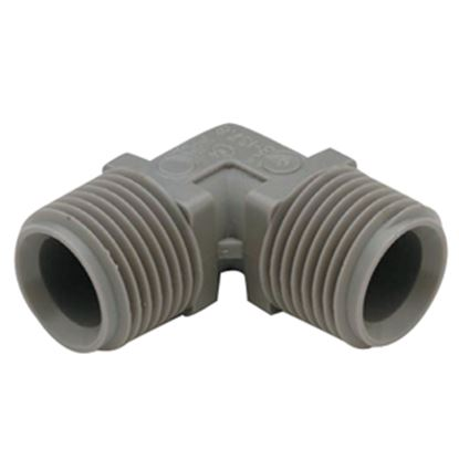 "Picture of QEST Qicktite (R) 1/2"" MPT Gray Acetal Fresh Water Elbow  10-3052"