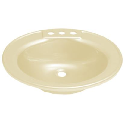 "Picture of Better Bath  19-3/4"" X 16-5/8"" Oval Parchment ABS Plastic Lavatory Sink 209358 10-5700"