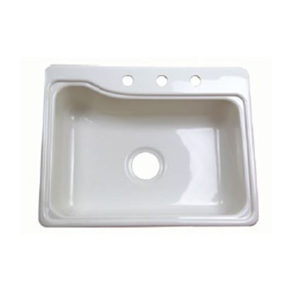 """Picture of Better Bath  24-3/8"""" X 18-7/8"""" White ABS Plastic Kitchen Sink 209407 10-5706"""