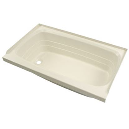 "Picture of Better Bath  Parchment 24""x36"" LH Drain ABS Standard Bathtub 209372 10-5731"